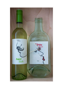 Jetzt erhältlich die Weinzeiten Herrlich Grüner Veltliner & Erfräulich rose vom Weingut Riegelhofer exkl Wein...!