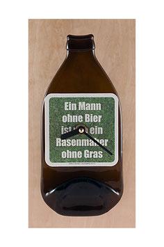 Bierflaschenuhr ein mann ohne bier ist wie...!