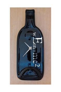 Weinflaschen Uhr Albert Einstein
