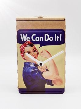 we can do it.....! blechpostkartenuhr tm 144x101mm in umweltkartonage...!