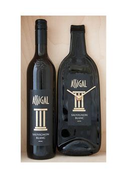 Weinflaschenuhr weingut assigal sauvignon blanc exkl wein