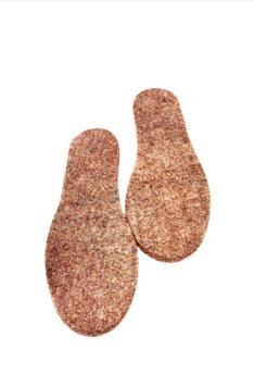 Ihre Schuheinlagen aus reiner Alpaka Wolle halten Sie immer warm...!