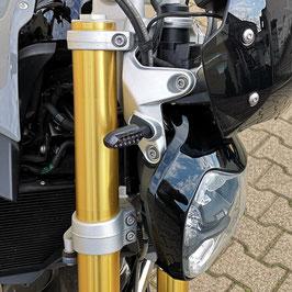 Lauflicht-LED-Blinker-Set für BMW R 1200/1250 R/RS - für Original-Kennzeichenhalter