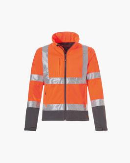 Zeckenschutz Warnjacke Herren Softshell Safetyline ENISO-20471