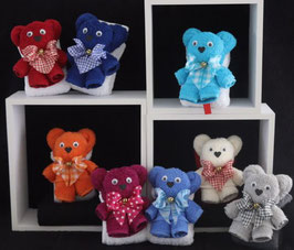 "Teddybär als Handtuch-Tier"" plus Gästehandtuch in Geschenkverpackung"