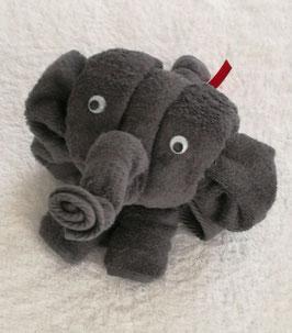 "Handtuchfigur ""Elefant"", fertig verpackt in Klarsicht-Geschenkfolie"
