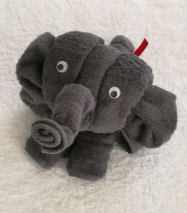 "Handtuchfigur ""Elefant in anthrazit"", fertig verpackt"
