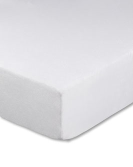 Spannbetttuch weiß für Boxspringbetten in zwei Größen lieferbar