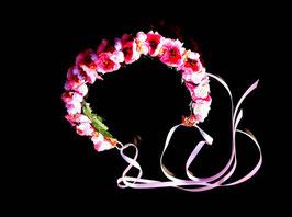 Blumenkranz | Kropfkette Vintage rosa