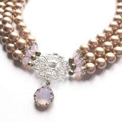 Perlenkropfkette *Lace* rose wateropal