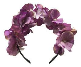 Haarreif Hortensie lila