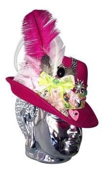 Unikat Trachtenhut magenta