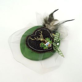 Dirndlkäppchen/Fascinator Jägergrün - UNIKAT