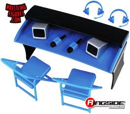 Kommentatoren Playset blau