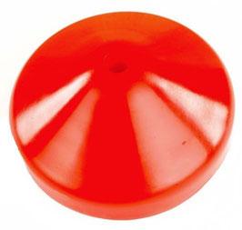 Schutzkappe für Rundholz/Rohr mit Verschlussstopfen.