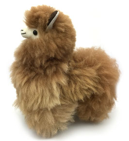 Alpaca knuffel lichtbruin - SOLD OUT