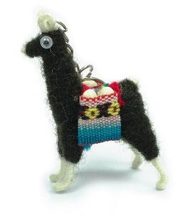 Alpaca sleutelhanger zwart