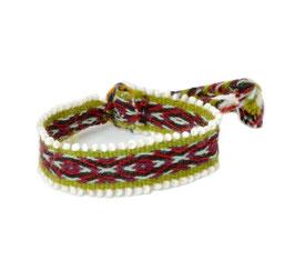 Armband lichtgroen/rood