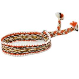 Armband oranje/bruin