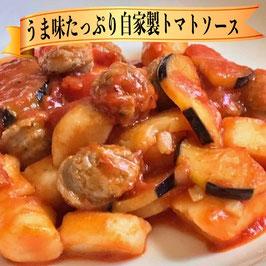 サルシッチャと茄子のトマトソース&チーズニョッキ