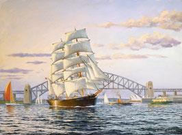 "Art work by Robert Carter ""James Craig in Darling Harbour"""""