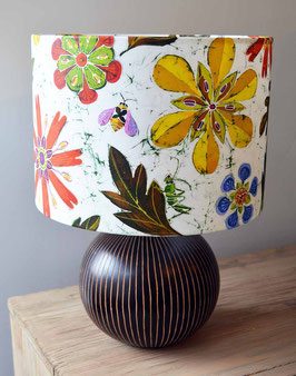 Bees In The Jewel Floral Bee and Flower Lampshade