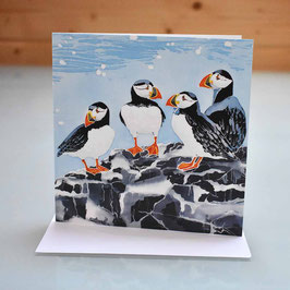 Farne Island Puffins Greeting Card