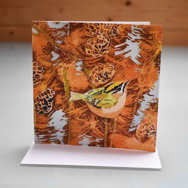 Firecrest On Larch Greeting Card