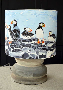 Farne Island Puffins Seaside Bird Lampshade