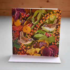Wrens In Autumn Greeting Card