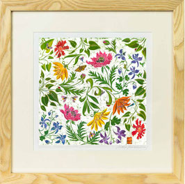 Summer Garden Giclee Batik Print