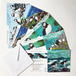 Mostly Puffins Art Card Multipack