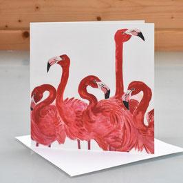 Chilean Flamingos Art Card