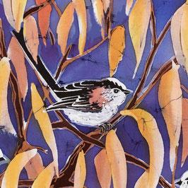 Longtail on Cherry Detail Giclee Batik Print