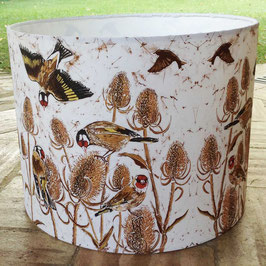 A Charm Of Finches Brown Bird Lampshade