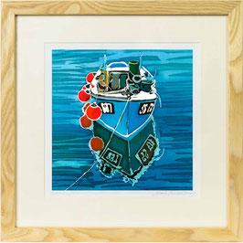 Cornish Tug Giclee Batik Print