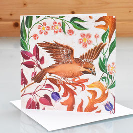 Birds In Paradise Art Card