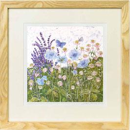 Meadow Blues Giclee Batik Print