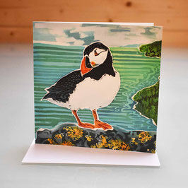 Skomer Puffin Greeting Card