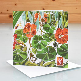 Nasturtiums Art Card