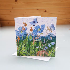 Himalayan Poppies And Blues Greeting Card