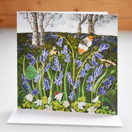 Bluebells On The Malvern Hills Art Card
