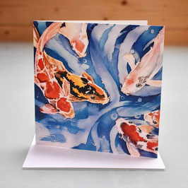 Koi Carp Greeting Card