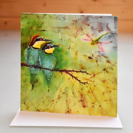 European Bee Eaters Greeting Card