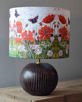 Red Admirals and Poppies Bees Butterflies Lampshade