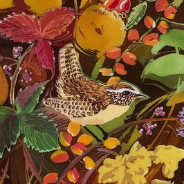 Jenny Wren Giclee Batik Print