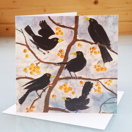 Hungry Blackbirds Art Card