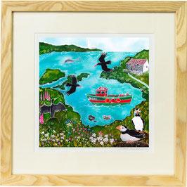 Pembrokeshire Giclee Batik Print