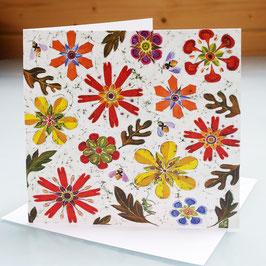 Bees In The Jewel Garden Art Card