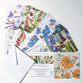 5 Detailed Floral Design Art Card Multipack